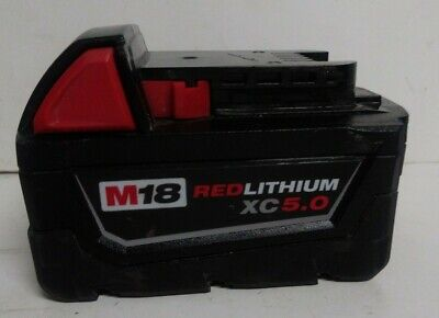$ CDN62.87 • Buy MILWAUKEE M18 - Red Lithium XC5.0 Battery Pack 48-11-1850 - Tested And Working!