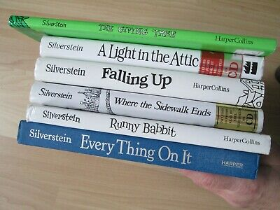 SHEL SILVERSTEIN LOT 6~Falling Up~Where Sidewalk Ends~Light Attic~Every Thing On • 43.69£