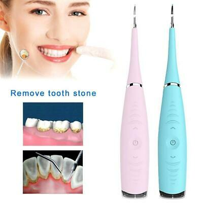 Electric Sonic Dental Scaler Tartar Calculus Plaque Removers Tooth Gift • 5.95£