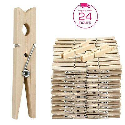 120x WOODEN Clothes Pegs Heavy Duty Pine Laundry Washing Line Airer Sun Dryer UK • 3.49£