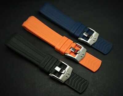 20mm/22mm Omega Rubber Strap Blue/black/orange For Omega Seamaster 300 Watches • 35.99£