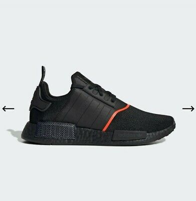 AU129 • Buy Adidas NMD_R1 Runners Shoes Size US 9 Core Black / Core Black / Solar Red Unisex