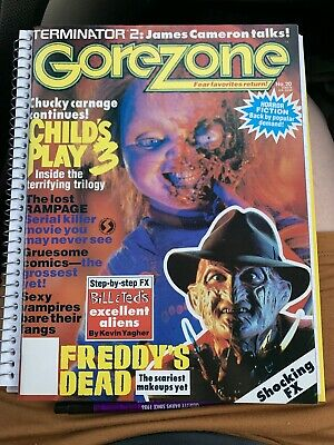 $17 • Buy GoreZone #20 Winter 1992 Child's Play 3 Freddy's Dead HUGE Chucky, Freddy Poster