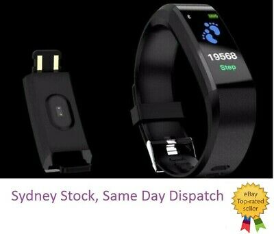 AU15.65 • Buy Bluetooth Smart Bracelet Heart Rate Monitor Fitbit Style Pedometer AU(NEW)