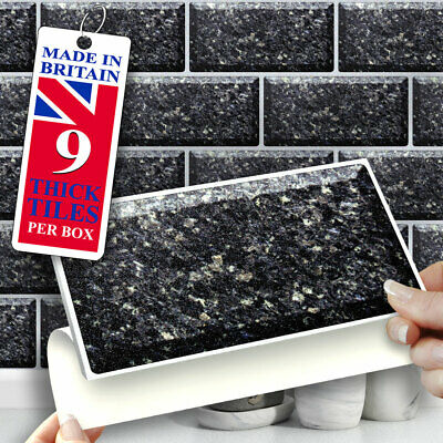 Self Adhesive Wall Tiles | Grey Canbury 8  X 4  Stick On Subway Wall Tiles • 12.99£
