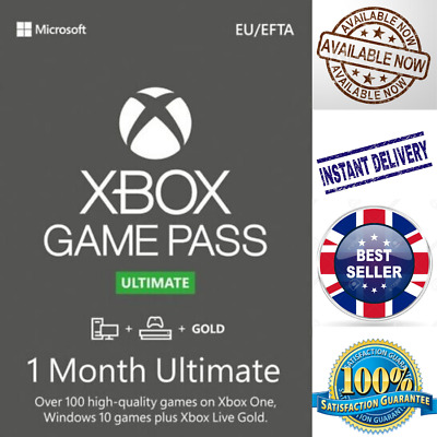 $ CDN4.40 • Buy Xbox Game Pass Ultimate + Live Gold - 1 Month Keys - Global - Xbox/PC - INSTANT