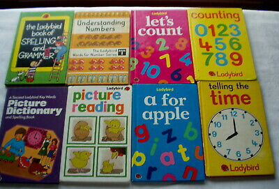 8 LADYBIRD Books Various Learning. Time Numbers Reading Alphabet Picture Reading • 5.99£