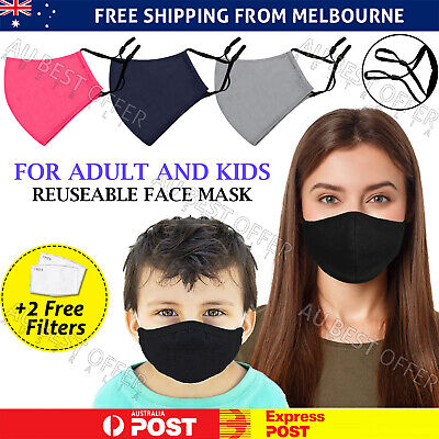 AU9.99 • Buy Reusable Face Mask Washable Unisex Anti Pollution Hay Fever Cotton PM2.5 Filter