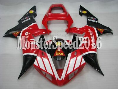 $463.60 • Buy Injection Mold Red White Black Plastic Fairing Fit For YAMAHA YZF R1 2002 2003
