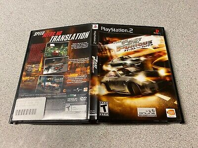 Fast And The Furious (Sony PlayStation 2) RACING FAST SHIPPING PS2 TEEN NTSC • 11.16£