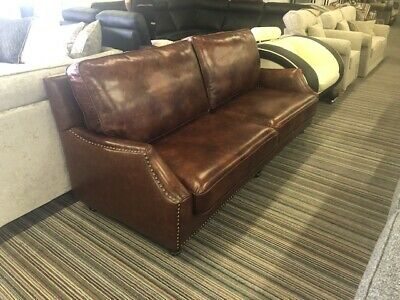 Halo 3 Seater Chestnut Leather Sofa RRP 3200 • 799.99£