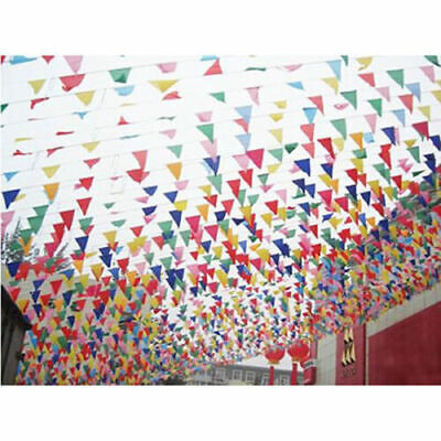 £4.99 • Buy 100 Feet Long Giant Flag Bunting Garland Pennants Garden Party Decoration New