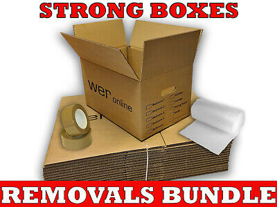 NEW *20 LARGE Cardboard House Moving Boxes - Removal Packing Box *OFFER* 24HRS • 14.79£