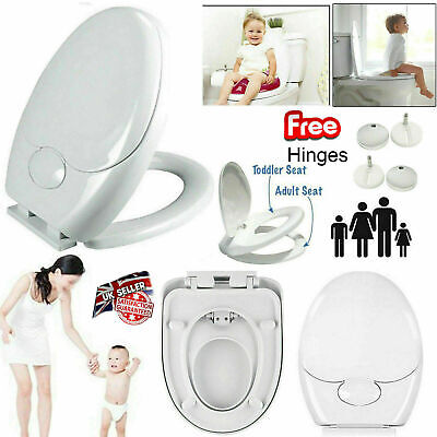 £14.45 • Buy Family Friendly Child Kids Toilet Seat Soft Close Potty Training Quick Release