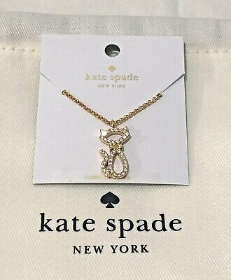 $ CDN38.72 • Buy  Kate Spade Jazz Things Up Pave Cat Mini Pendant Necklace Gold New $58 +Dust Bag