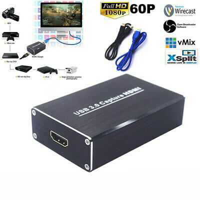 HD USB 3.0 HDMI Game Capture Card Video To Live Streaming Recorder Device New • 46.79£
