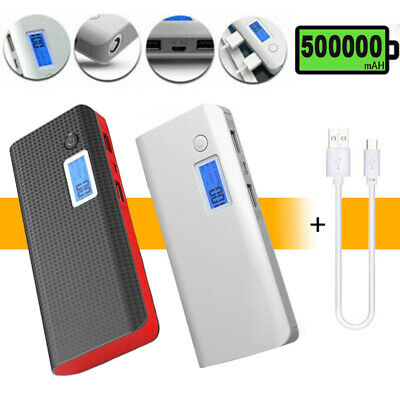 £12.07 • Buy 500000mAh Power Bank Charger Battery Pack Portable Dual USB For Mobile Phone UK