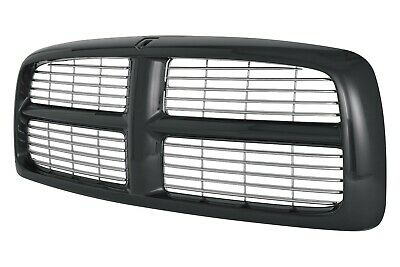 $94.89 • Buy New Black And Chrome Grille For 2002-2005 Dodge Ram CH1200259 SHIPS TODAY