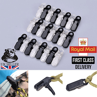 12pcs Awning Clamp Tarp Clips Snap Hangers Tent Camping Survival Tighten Tool UK • 4.99£