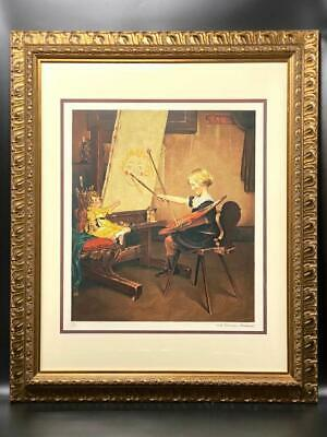 $ CDN1000.05 • Buy Norman Rockwell Artist Daughter Facsimile Signed & Numbered Framed Encore Ed.