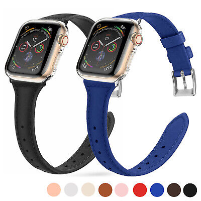 $ CDN4.57 • Buy 38/40mm For Apple Watch Series 5 4 3 2 1 Leather IWatch Wrist Band Strap 42/44mm