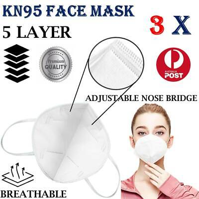 AU7.98 • Buy Reusable KN95 Face Mask Anti Particulate Virus Respirator 3x Protect VIC STOCK