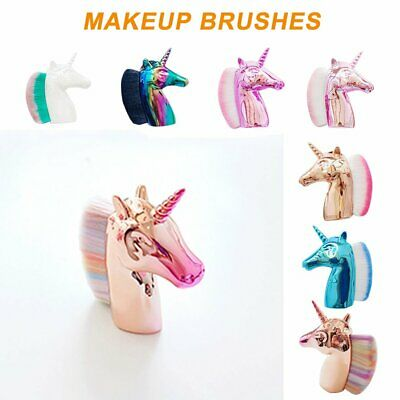 AU6.99 • Buy Unicorn Horse Makeup Brushes Color Synthetic Hair Face Cosmetic Powder Brush PQ