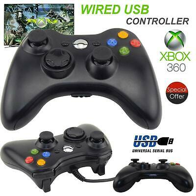 AU17.92 • Buy Black Xbox 360 Wired Controller For Windows & Xbox 360 Console PC USB Wired PQ
