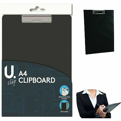 A4 Clipboard With Folding Cover Sprung Office School Outings Clip Board Holder • 2.99£
