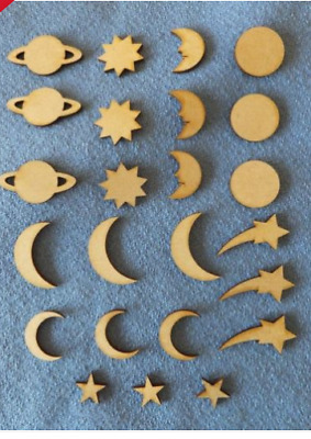 £2.50 • Buy Mdf Wooden Planets Of The Solar System Craft Shape Blanks  Card Embellishments