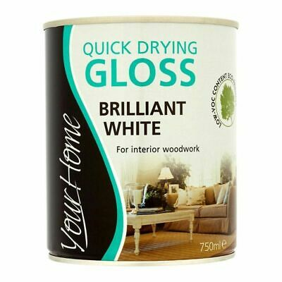 £8.99 • Buy Your Home Quick Dry Gloss Paint 750ml - Brilliant White
