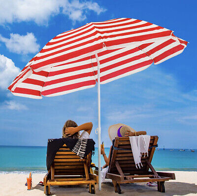 AU36.03 • Buy 6' FT Umbrella Beach Camping Table Yard Garden UV Coated Supper Light