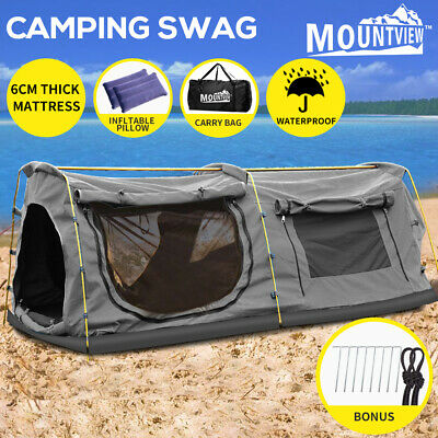 AU229.99 • Buy Mountview Double King Swag Camping Swags Canvas Dome Tent Hiking Mattress Grey