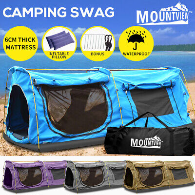 AU229.99 • Buy Mountview Double Swag Camping Swags Canvas Dome Tent Hiking Mattress Daddy Bags
