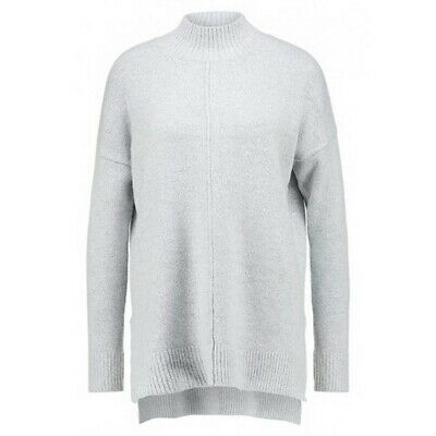 NWT! Oasis Funnel Neck Knit Jumper Grey Marl Sweater Cosy Soft Knitwear Slouchy • 23.99£