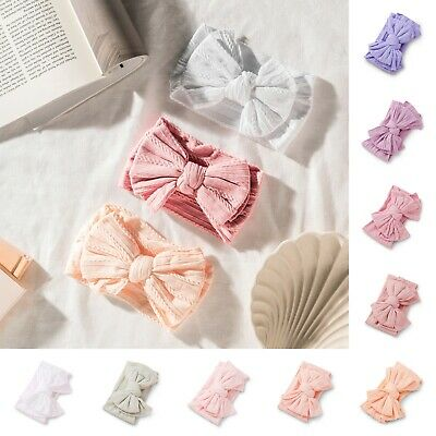 AU6.95 • Buy NEW Baby Double Knot Bow Headband Stretchy Soft Girl Infant Toddler Newborn Wrap