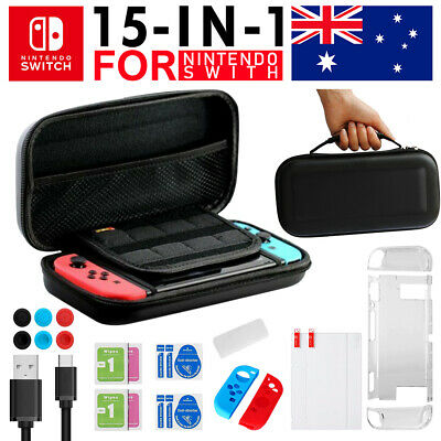 AU22.45 • Buy For Nintendo Switch Travel Case EVA Hard Bag+Screen Protectors+Cover+Accessories