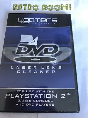 4 Gamers - The Official Option - Dvd Laser Lens Cleaner - Sealed - For Ps2 • 10£