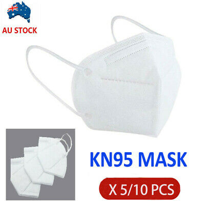 AU19.99 • Buy 5/10PCS KN95 P2 Particulate Respirator Face Mask Anti Dust Protection Mouth Dust
