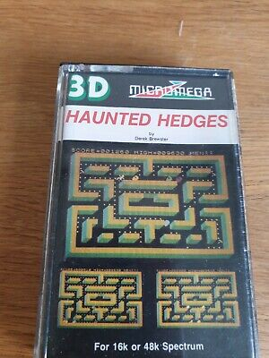 Haunted Hedges For ZX Sinclair Spectrum 16 / 48 K Game By Micromega  • 1£