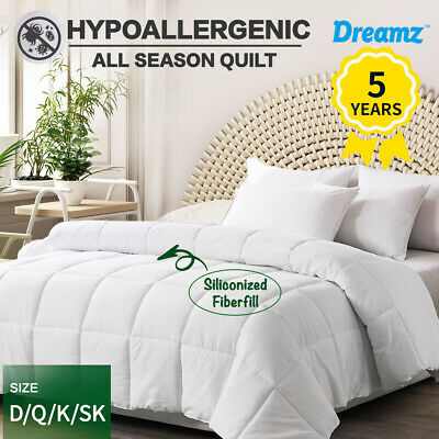 AU54.99 • Buy DreamZ Quilt All Season Bed Quilts Hypoallergenic Duvet Doona Summer Winter