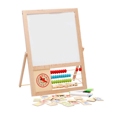 Children Magnetic Drawing Board Easel Double Sided Folding Kids Doodle Sketchpad • 8.99£
