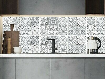 Grey Mosaic / Pattern Tile Stickers For 150mm X 150mm / 6x6 In 4x4 In T177 • 28.99£