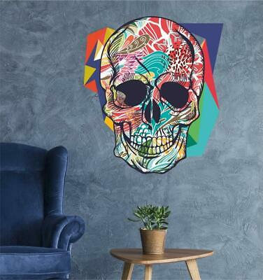 £3.99 • Buy Mexican Colorful Sugar Skull Art Vinyl Sticker Wall - Day Of The Dead Poster B5