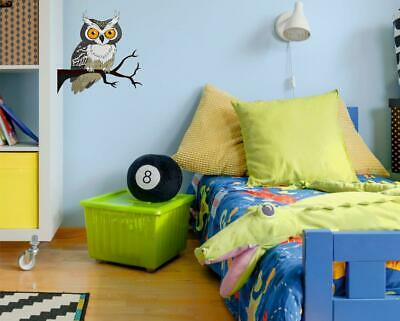 Owl Kids Bedroom Wall / Printed Vinyl Decal Stickers N255 • 3.99£