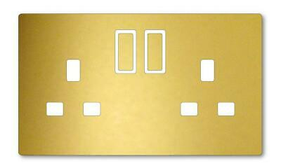 Plug Socket Vinyl Skin Cover Decal Living Bedroom Stickers Various Colours 0250 • 1.95£