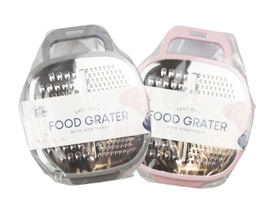New Kitchen Cheese FOOD GRATER WITH CONTAINER Vegetable Carrot Slicer Shredder • 5.99£