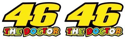 X2 Valentino Rossi The Doctor 46 Motorcycle Vinyl Decal Sticker 100mm 07 • 2.49£