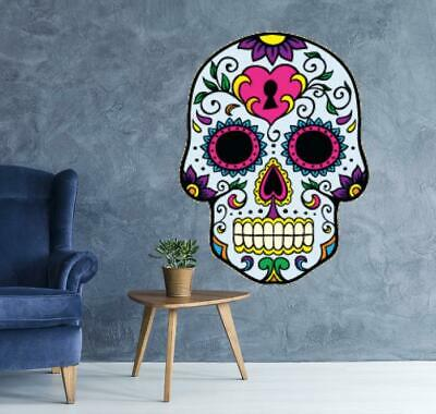 Mexican Sugar Skull Wall Art Vinyl Sticker Wall - Day Of The Dead - Goth  0303 • 12.99£