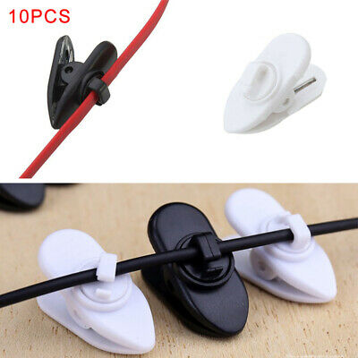 10Pcs Earphone Headphone Cable Cord Wire Collar Lapel Clip Clamp Mount Holder • 3.29£
